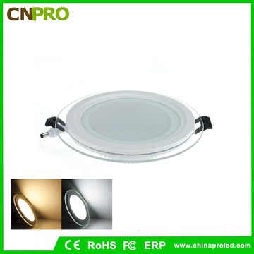 12W Round Glass LED Recessed Ceiling Downlight LED Panel Light