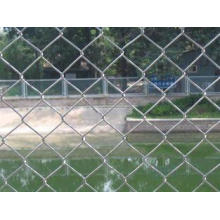 PVC Coated Diamond Wire Mesh Chain Link Fence Mesh