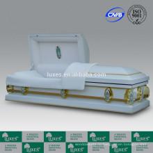 ЛЮКСЫ Американский Горячие продажи похороны дешевые Coffins18ga металлические шкатулки