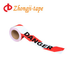 with word red and white pe danger tape