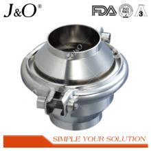 Válvula de retenção de extremidade de solda sanitária em aço inoxidável