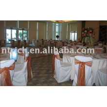 100%polyester chair cover,Hotel chair cover, Organza sash