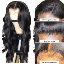 Cheap wholesale brazilian hair Lace Front Wig,virgin cuticle aligned human hair wig,hd 13x6 lace front wig for black women