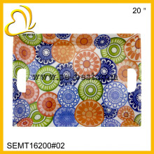 20 Inch Big Size Melamine tray with handle