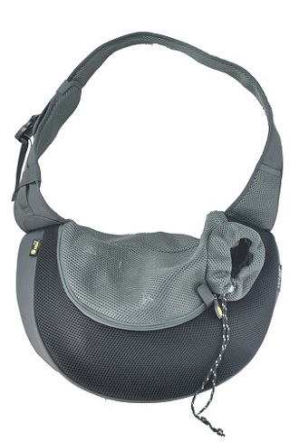 Black Large PVC et Mesh Pet Sling