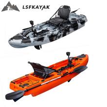 LSF Kayak Factory Direct Supply HDPE kayak de pesca 8ft fishing kayak pedal drive