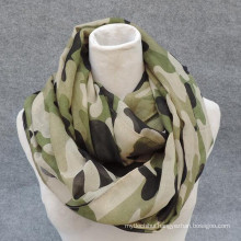 Whosale elegance fashion soft print viscose circle navy military infinity scarf wholesale
