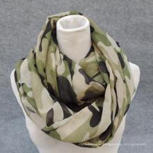 Лучшая элегантность мода печать мягкий вискоза кругу флот военных бесконечности шарф оптовой