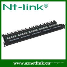 Montaje en bastidor Panel de conexión de 19 puertos Cat3 de 19 pulgadas