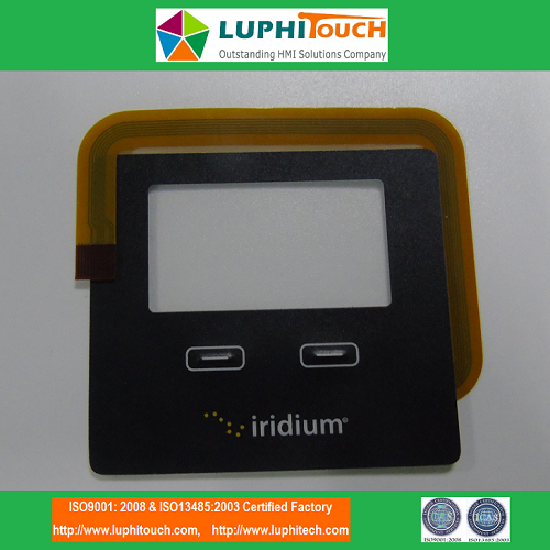 Iridium GO Embossed Buttons FPC Circuit Membrane Switch
