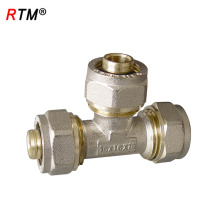 J17 4 12 1 raccord de vis de haute qualité forgeage compression cuivre laiton mamelon fileté
