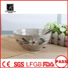 Оптовая уникальная персонализированная дешевая керамическая чаша лапши, керамическая чаша