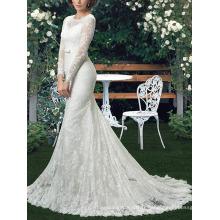 Robe de mariée à la mode nouvelle tenue Custom Mermaid Lace Robes de mariée à manches longues MW2550