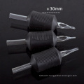 New Silicone Rubber Disposable Tattoo Grips with Black Tips 30mm