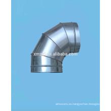 Galvanizado acero codo empitonado (guarniciones del conducto espiral)