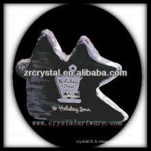 design attrayant blanc trophée en cristal X060