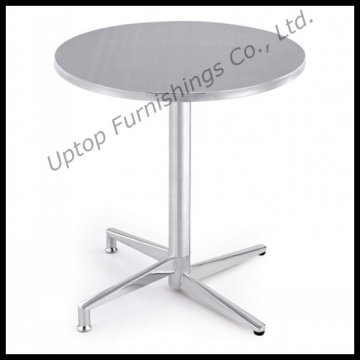 Bistro Used Stainless Steel Folding Round Table (SP-MT001)