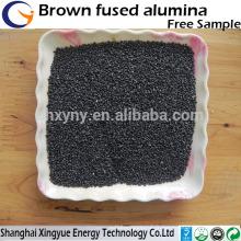 Sable brun d'alumine de haute dureté pour le sablage