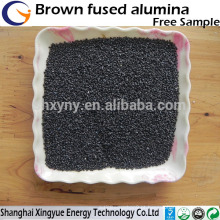 Alta dureza de areia de alumina fundida marrom para jateamento
