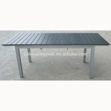 Mesa de madeira plástica de extensão em moldura de alumínio