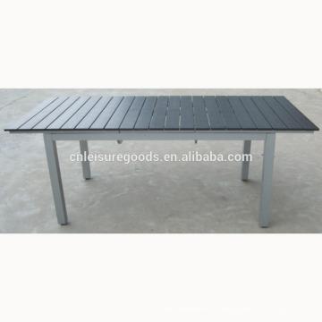 Расширение пластичный деревянный стол в алюминиевой раме