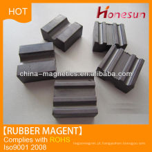 Auto parts coated rubber magnets by china supplier