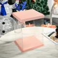 Tall cake plastic box