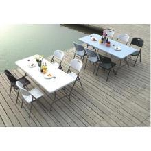 6FT Самый продаваемый стол в Европе, Пластиковый напольный складной стол HDPE, Открытый складной стол