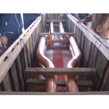 Tubo de cobre líquido curto