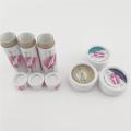 Boîte-cadeau d'emballage de tube de papier de baume de lèvre ronde
