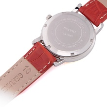 Latest Waterproof Calendar Leather Strap Wrist Watch