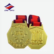 Medalla de premio de logotipo de metal de personaje de logotipo personalizado
