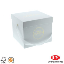 Gift Paper Box Packaging dengan Ribbon Handle