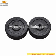 75x25mm 3 inch small solid rubber wheel for trolley
