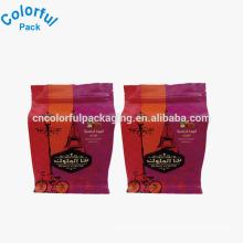 Custom flat bottom plastic ziplock coffee bags