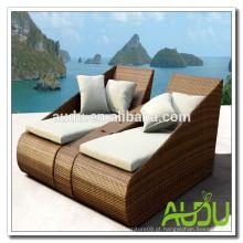 Audu Rattan Garden Outdoor Set de espreguiçadeira de praia