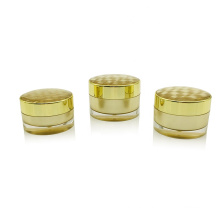 15g 30g 50g Empty gold sliver painting round plastic container cosmetic acrylic packaging cream jar