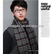 Homens de alta qualidade moda lã todos os março manta lenço longo / xaile