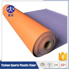 Plancher en vinyle de revêtement de vinyle de couleur solide pour l'école