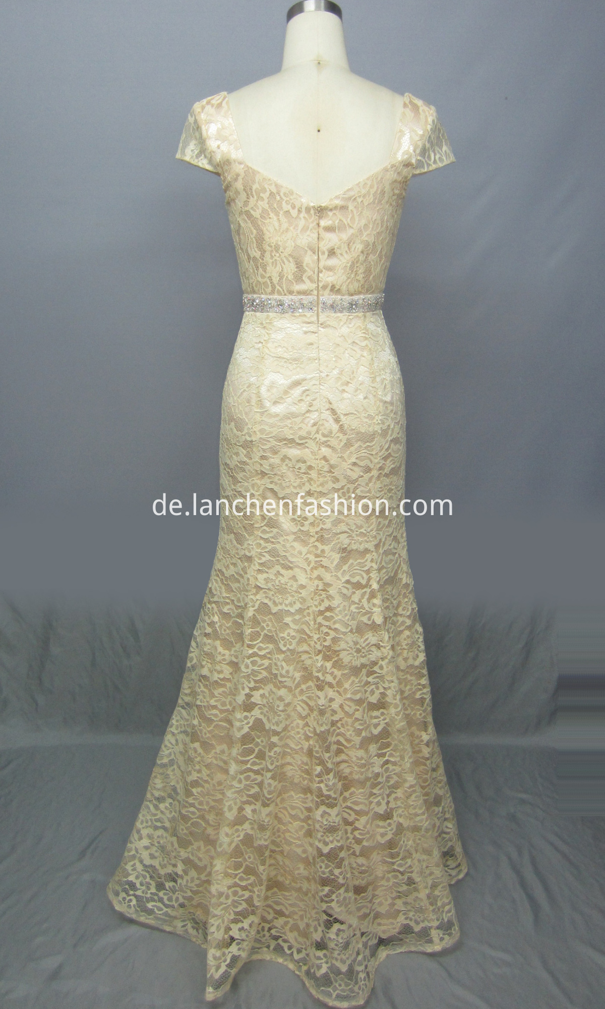 Cap Lace Evening Dress