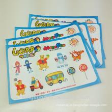 Folha de papel da etiqueta dos caráteres da caixa do tamanho A5