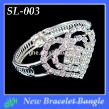 Yiwu Wholesale New Fashion Bangle, strass Mini bracelet en forme de coeur