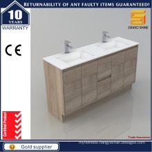 Australian Style MDF Floor Standing Double Sinks Bathroom Cabinet