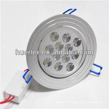 Shenzhen encendió la iluminación que el fabricante 100-240v 12w downlight la cubierta con CE y RoHS