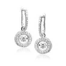 Hot Sales Dangle Earrings 925 Silver Jewelry Dancing Diamond