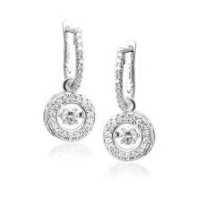 Горячие продажи мотаться серьги 925 серебряных ювелирных танцев алмазов