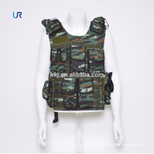 Camouflage 600D oxford military Tactical Soft Bullet proof vest with pockets