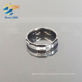 Hand made simple diamond silver color stainless steel ring designs