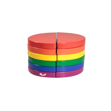 Wooden Building Blocks In 6 Colors Circle Blocks