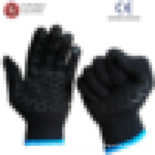 Poly-Baumwoll-String-Strick-PVC-punktierte Handschuhe